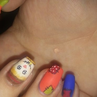Scarecrow nails nail art by Candis