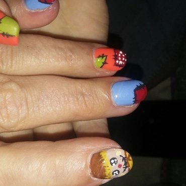 Mom's Scarecrow Nails nail art by Candis