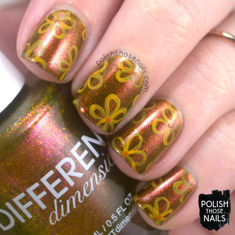 Flower Fortunes nail art by Marisa  Cavanaugh