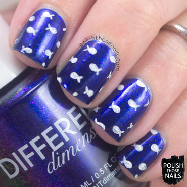 Different dimension living the dream blue shimmer fish pattern nail art 3 thumb370f