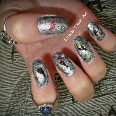 Parrots nail art by Elpiola Lluka