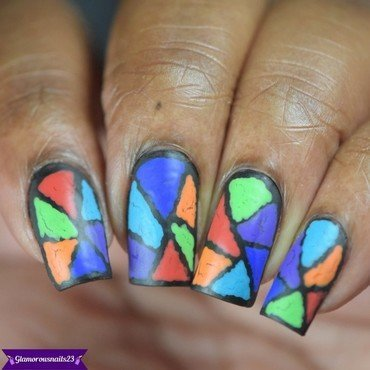 Stained Glass nail art by glamorousnails23