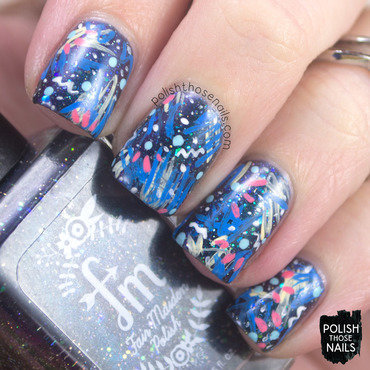 80s Scribbles Pattern nail art by Marisa  Cavanaugh