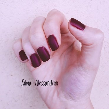 Matte vanda burgundy nail art by SilvieTepes