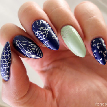 stamping nail art nail art by Yenotek