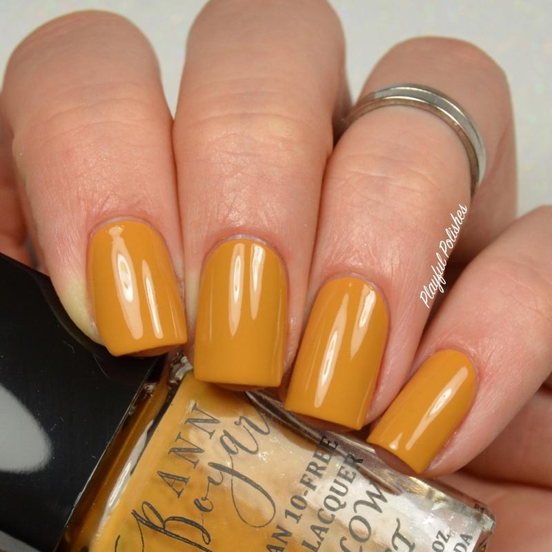 Ann Boyar Yellow Dust Swatch by Playful Polishes