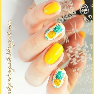 pineapples nail art by ELIZA OK-W