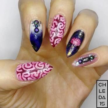 2018 #43 nail art by chleda15