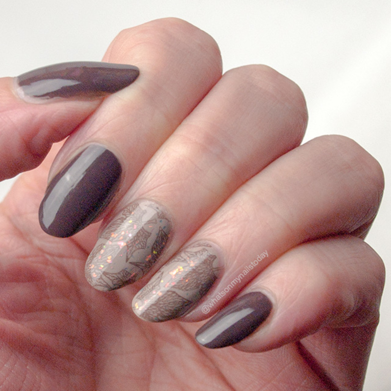 Elegant leaves nail art by What's on my nails today?