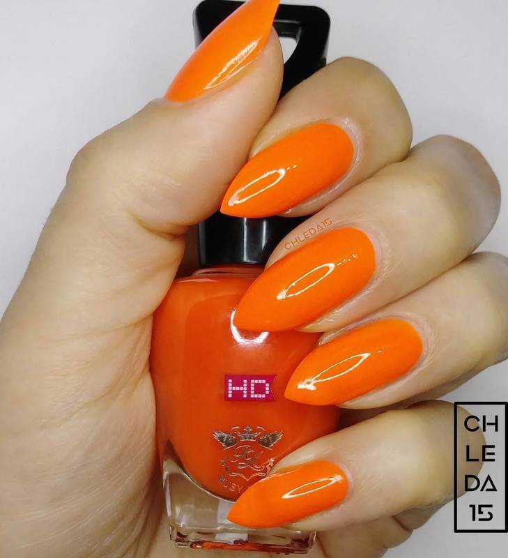 "Ruby Kisses HDP08 ""Orange U Jealous"" Swatch by chleda15"