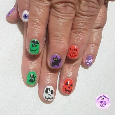 Halloween nail art  nail art by Funky fingers nail art