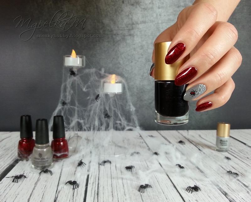 Spider Webs - #glamnailschallengeoct  nail art by Mgielka M