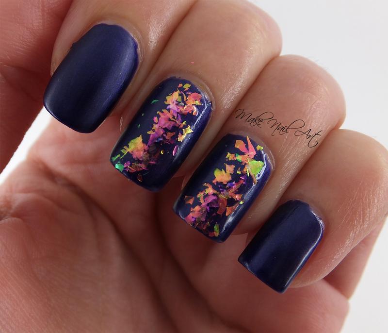 Matte Purple nail art by Make Nail Art