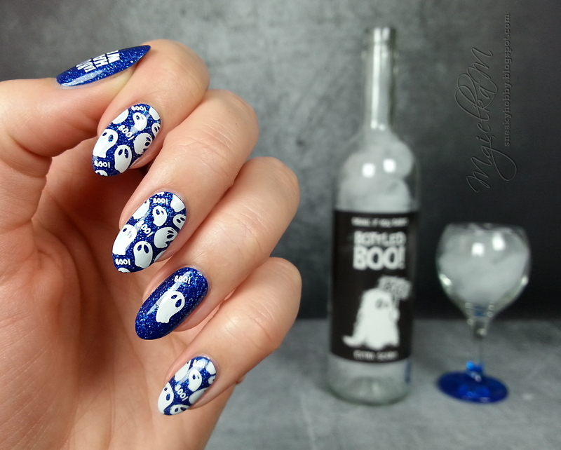 Ghosts - #glamnailschallengeoct  nail art by Mgielka M