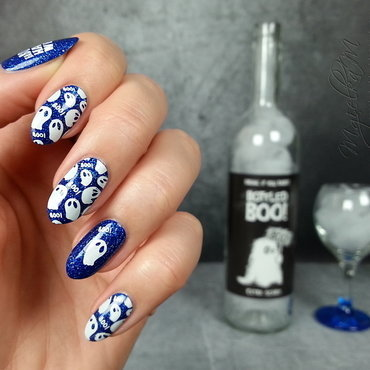 Ghosts - #glamnailschallengeoct  nail art by Mgielka M