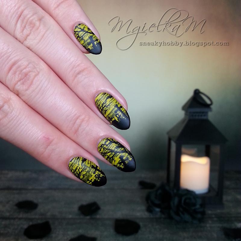 Graveyard - #glamnailschallengeoct  nail art by Mgielka M