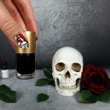 Skull - #glamnailschallenge  nail art by Mgielka M