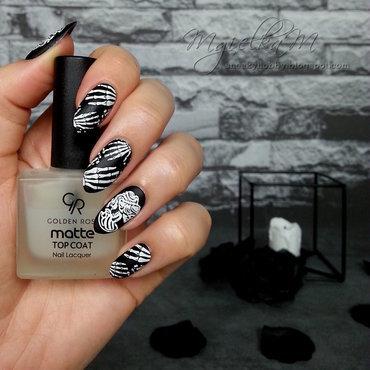 Bones - #glamnailschallengeoct  nail art by Mgielka M