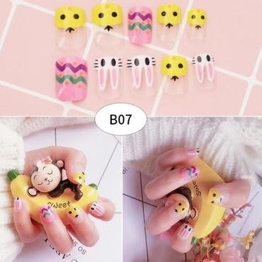 False Nails Brief Final Product Finger Nail Sequins nail art by beautybigbang