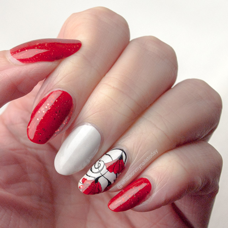 Fierce red nail art by What's on my nails today?