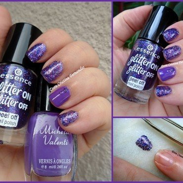 Essence Glitter On, Glitter Off nail art by Dora Cristina Fernandes