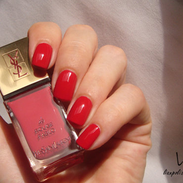 Yves Saint Laurent 49 Rouge Pablo Swatch by Lian