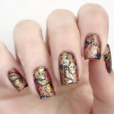 November Butterflies nail art by Happy_aries