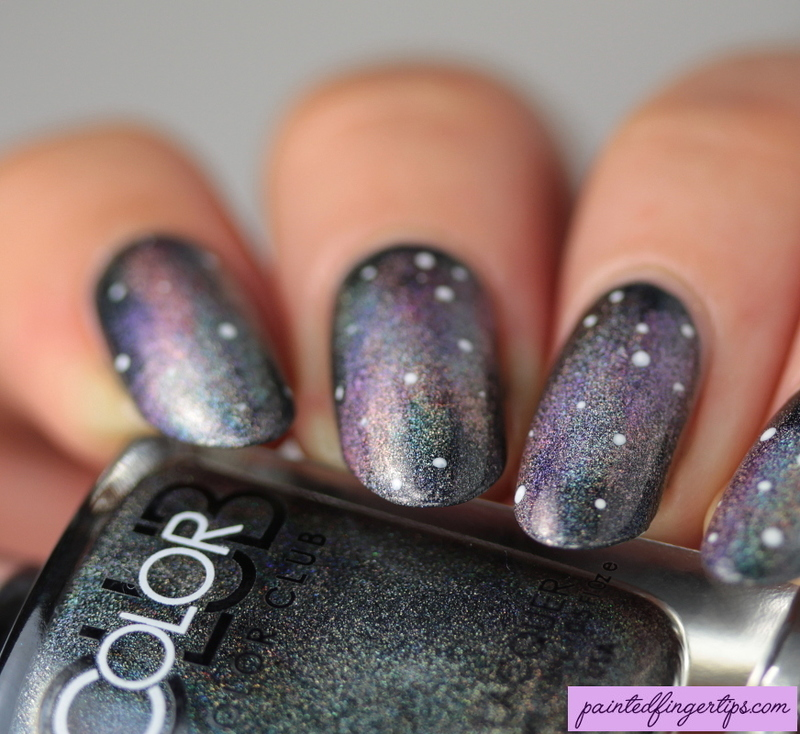 Holo Galaxies nail art by Kerry_Fingertips