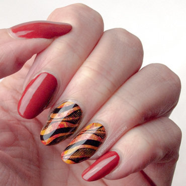 #52weeknailchallenge - week 45: Orange + Yellow nail art by What's on my nails today?