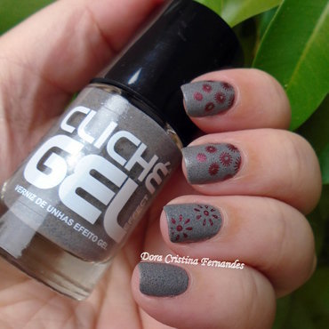 Speckled Liquid Sand  nail art by Dora Cristina Fernandes
