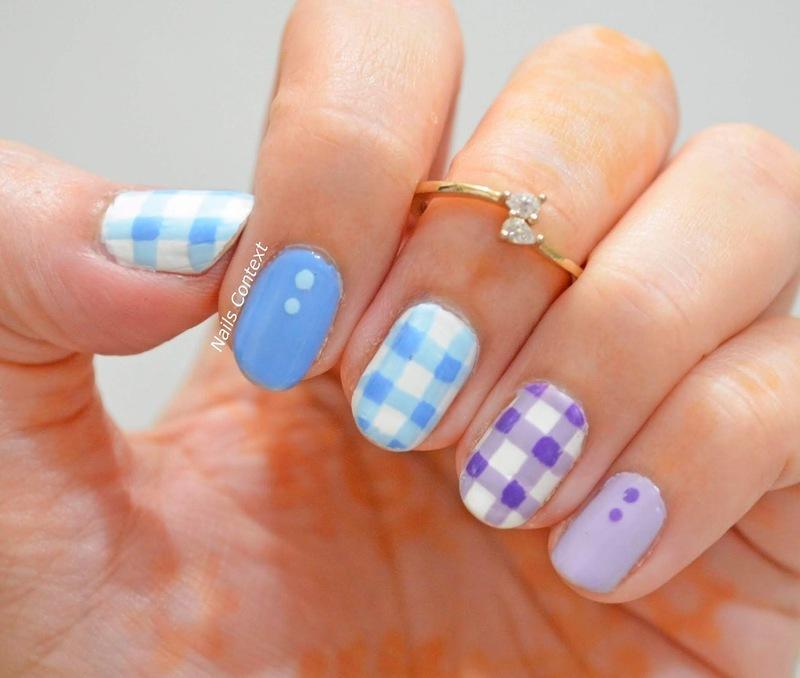 Gingham Nails  nail art by NailsContext