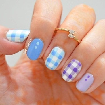 Gingham Nails  nail art by NailsContext