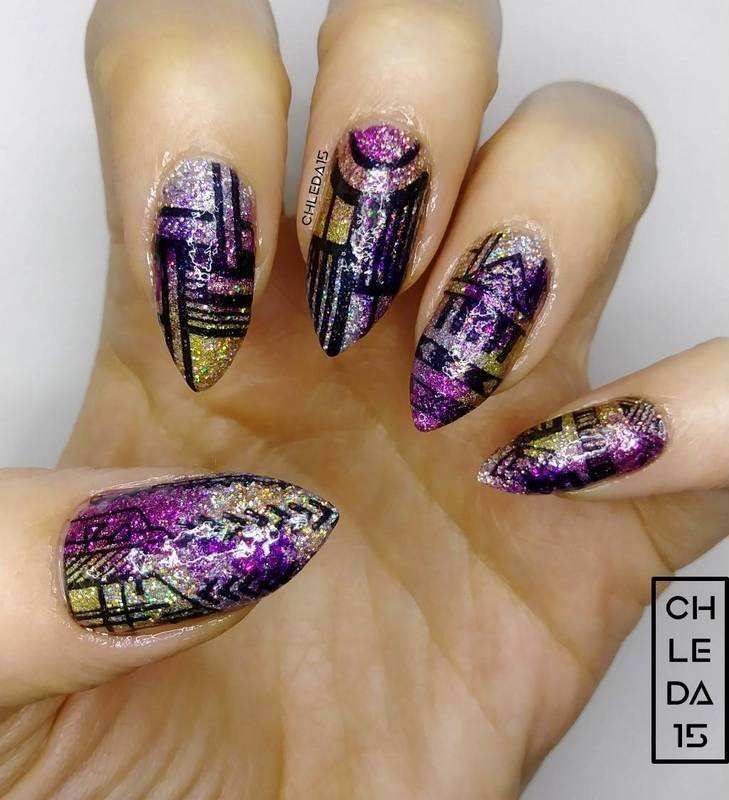 2018 #47 nail art by chleda15