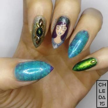 2018 #48 nail art by chleda15