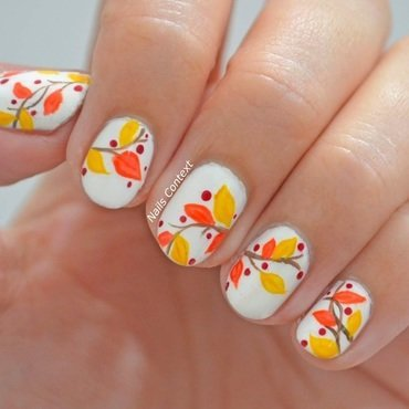 Fall-ing in love nail art by NailsContext