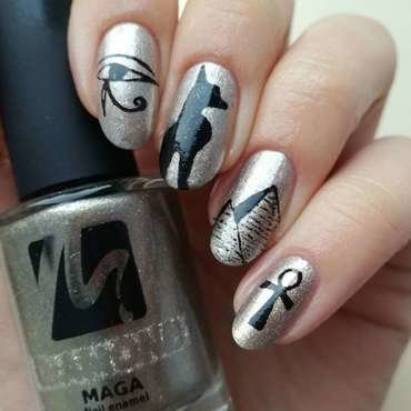 Rapidoart - egipskie paznokcie nail art by MaliNaila