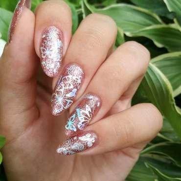 Holo paznokcie w motylki nail art by MaliNaila