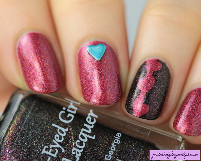 Sweet hearts nail art by Kerry_Fingertips