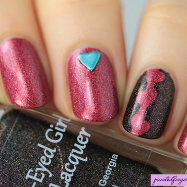Begl nail art red black thumb370f
