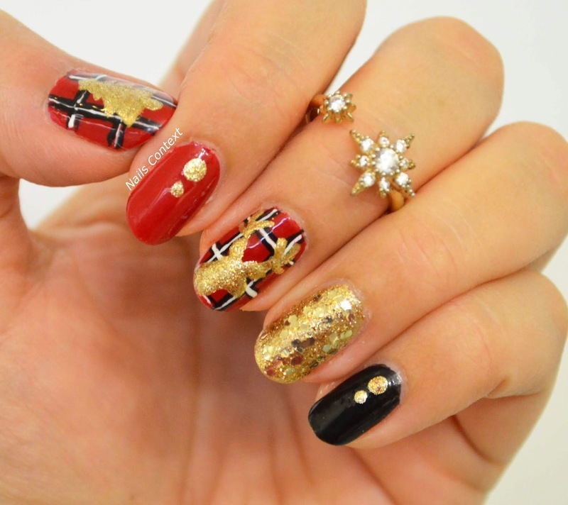 Christmas Plaid nail art by NailsContext