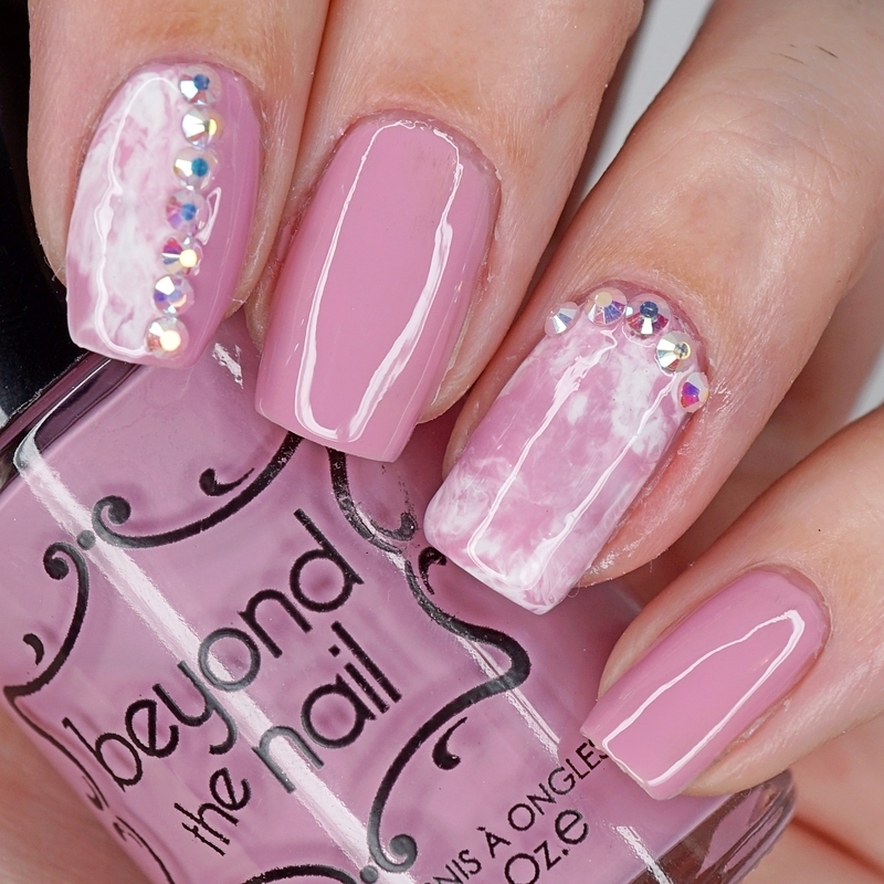 Dusty Rose Smoosh Nails nail art by Maddy S