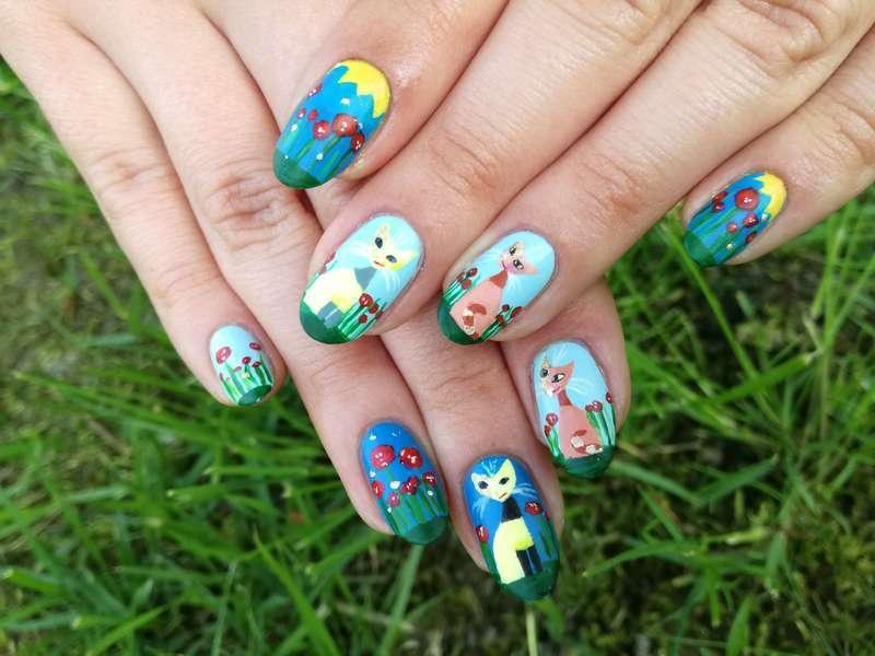 Kocie paznokcie nail art by MaliNaila