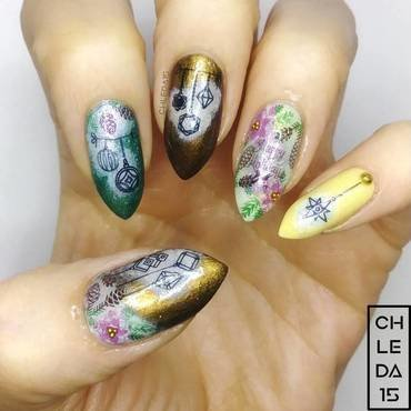 2018 #50 nail art by chleda15