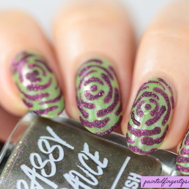 Textured roses nail art by Kerry_Fingertips