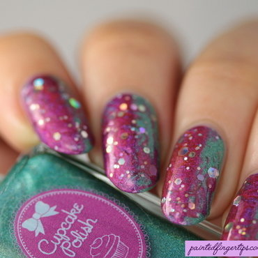 Holo needle drag nail art by Kerry_Fingertips