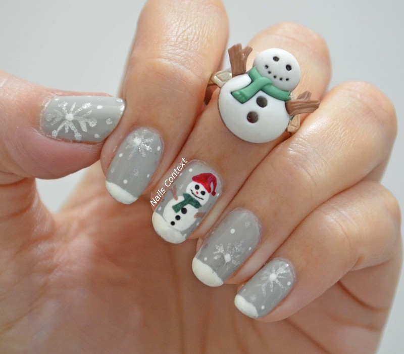 Frosty the snowman nail art by NailsContext