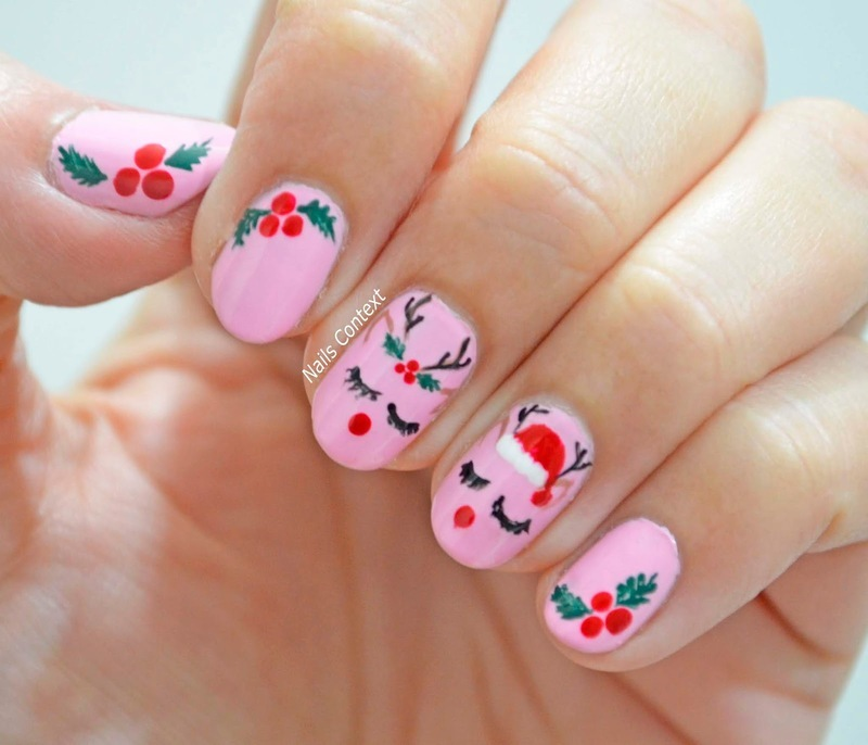 Cute Reindeers nail art by NailsContext