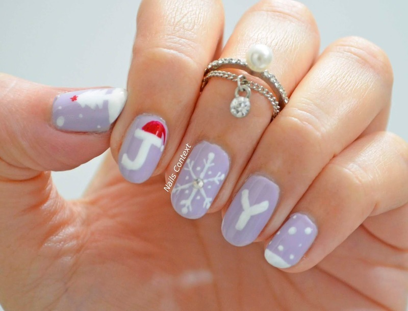 Christmas Joy nail art by NailsContext