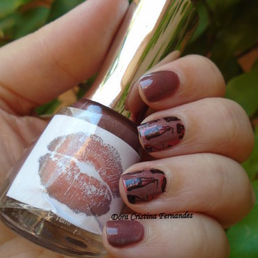 Chocolate & Coke nail art by Dora Cristina Fernandes
