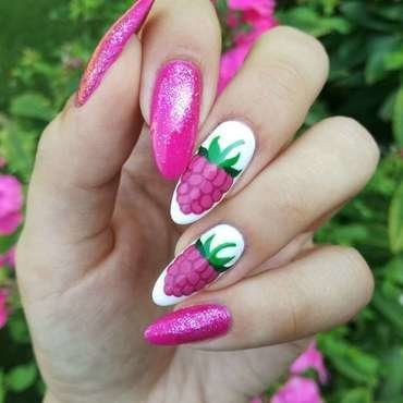 Malinowe paznokcie nail art by MaliNaila